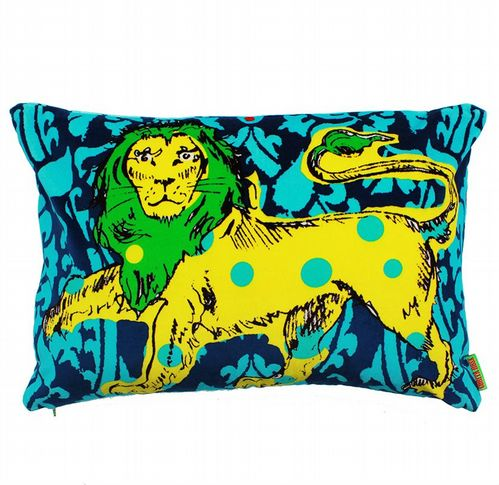 Cotton Velvet Cushion - Lion